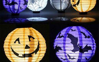 Papírový lampion Halloween