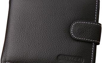 Pánská peněženka kapsou na drobné a zapínáním na cvoček