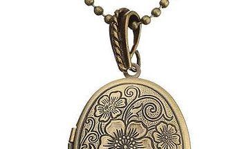 Vintage náhrdelník s medailonem pro fotografii