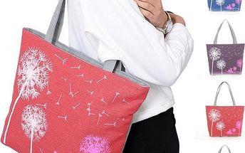 Velká dámská taška přes rameno s pampeliškami