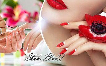 Klasická manikúra + zkrášlení nehtů gellakem, shellacem či P-Shine ošetřením