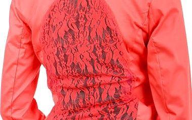 Krásné sako s krajkou růžová
