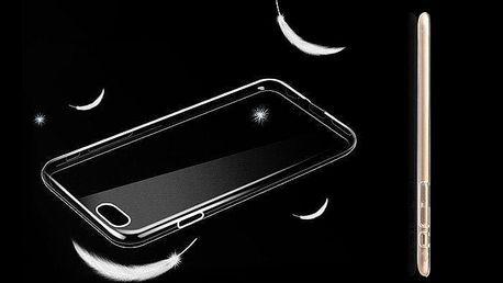 Ultratenký průhledný zadní kryt z pružného plastu na iPhone