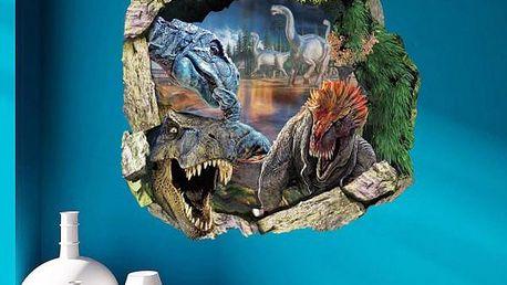 Samolepka na zeď - Nelítostní dinosauři