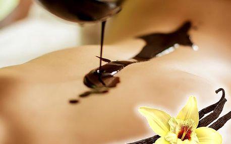 Čokoládová 60 min. nebo vanilková masáž 40 min. v salonu Herbeva v centru Plzně.