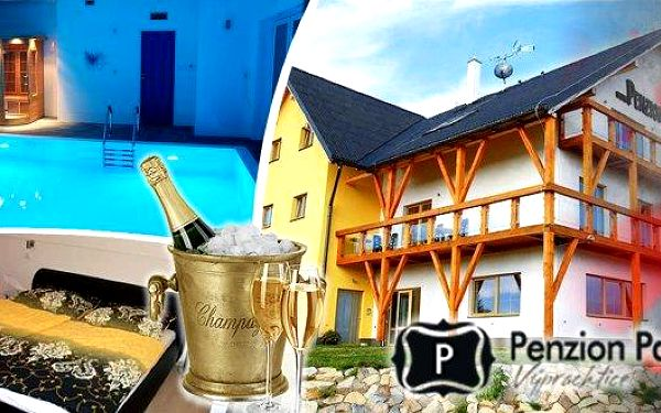 Romantika a luxus - pobyt pro 2 osoby na 3 nebo 4 dny v apartmánovém penzionu Patriot****. Jedinečný penzion, malebná krajina Orlických hor, bohaté bufetové snídaně, neomezený vstup do sauny a vyhřívaného bazénu a navíc romantický VIP balíček s privátním
