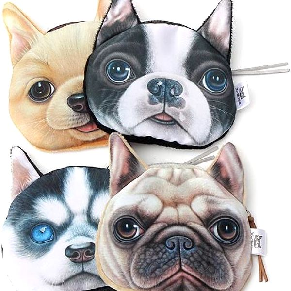 Malá peněženka v podobě psí hlavy - dodání do 2 dnů