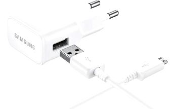 Nabíječka do sítě Samsung EP-TA20E 2A podpora rychlonabíjení + microUSB kabel (EP-TA20EWEUGWW) bílý