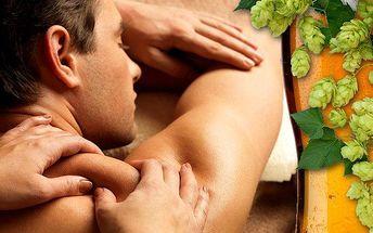 30minutová pivní masáž šíje, zad a ramen v Plzni v salonu Miruš