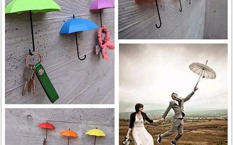 Kreativní věšáčky v podobě deštníku - 3 kusy