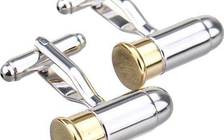 Manžetové knoflíčky v podobě nábojů