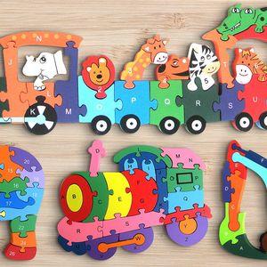 Vzdělávací dřevěné puzzle pro děti od 3 let