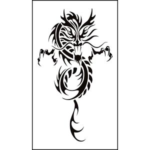 Dočasné tetování - čínský drak - skladovka - poštovné zdarma