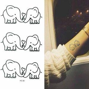 Dočasné tetování - Zamilovaní sloníci - skladovka - poštovné zdarma
