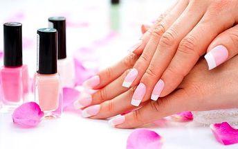 Manikérské ošetření P-shine, gel lak, modeláž nebo doplnění gelových nehtů