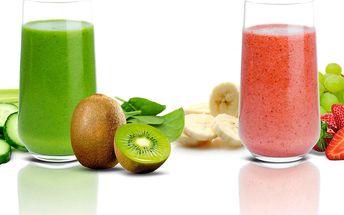2 sklenky domácího smoothie dle výběru
