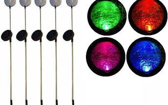 """REMO zahradní LED sada solárních světel Garth """"koule"""" s barevnou změnou 5 ks"""