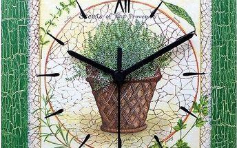Dekorativní nástěnné hodiny Tymián