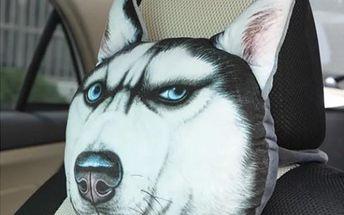 3D polštář do auta s pejsky a kočkami - dodání do 2 dnů