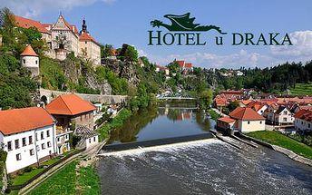 Pobyt pro dva v lázních Bechyně s polopenzí a masáží v Hotelu U Draka