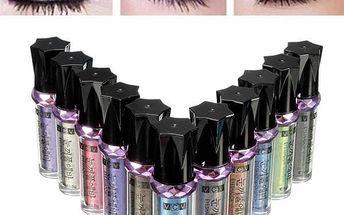 Glitrové oční stíny - různé barvy