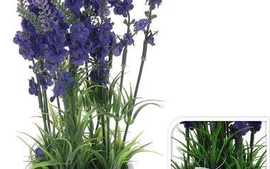 Umělá levandule v keramickém květináči,769000060
