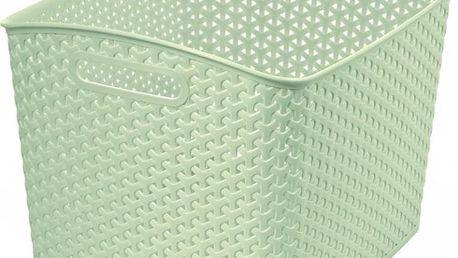 Polyratanový košík STYLE box- XL- krémový CURVER