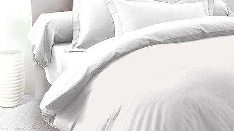 Kvalitex Saténové povlečení Luxury Collection bílá, 220 x 220 cm, 2 ks 70 x 90 cm