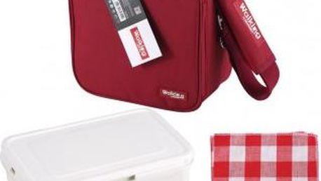 Svačinový box v tašce BERGNER BG-3652cerv