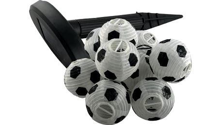 Garthen 30514 Solární zahradní párty lampion - 10 x fotbalový míč