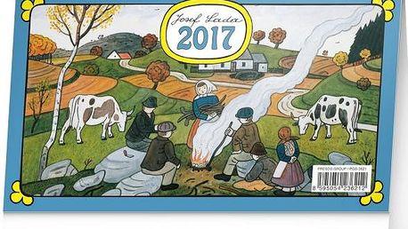 Stolní kalendář 2017 - Josef Lada - skladovka - poštovné zdarma