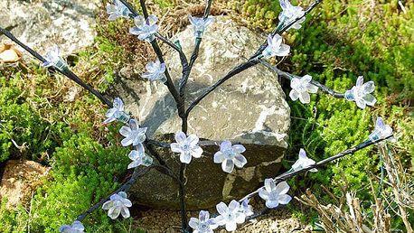 Zahradní květinový strom Garth s 36 LED diodami a solárním panelem bílé LED diody