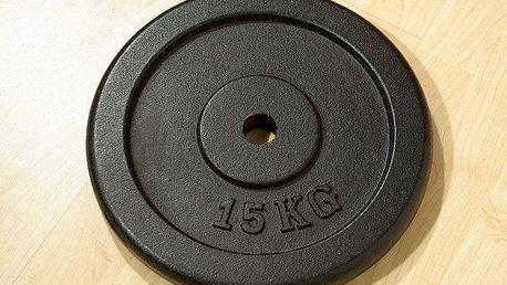 Závaží na činky 15 kg černé litina