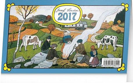 Stolní kalendář 2017 - Josef Lada - dodání do 2 dnů