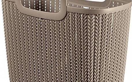 CURVER Nákupní taška Knit, hnědá
