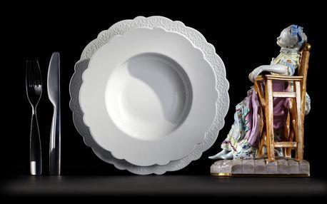 Alessi Hluboký talíř Dressed, pr. 23,3 cm, bílá