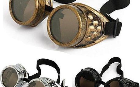 Steampunkové brýle na Halloween