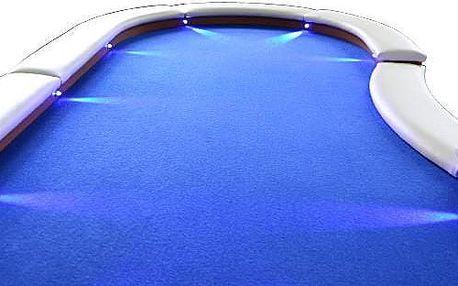 Garthen 32908 Pokerový stůl pro 10 osob s LED osvětlením