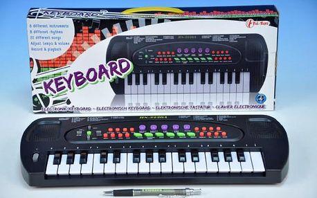Piánko plast 32 kláves 40cm na baterie v krabici
