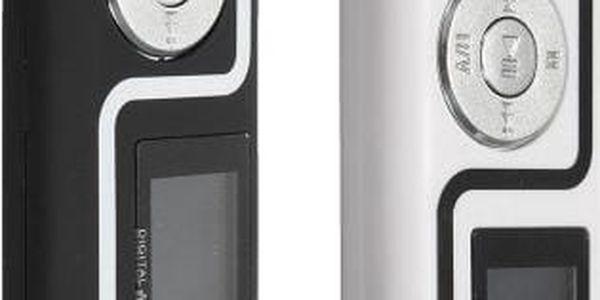 MP3 přehrávač podporující Micro SD karty do 8GB