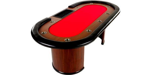 Tuin 32444 XXL pokerový stůl Royal Flush, 213 x 106 x 75cm, červená