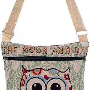 Dámská taška přes rameno se sovičkou