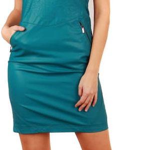 Dámské svůdné šaty umělá kůže tmavě fialová