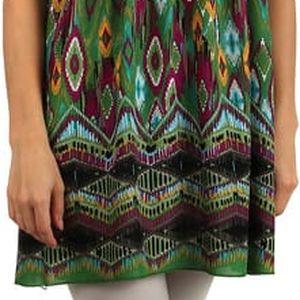 Orientální šaty z bavlny na úzká ramínka fialová
