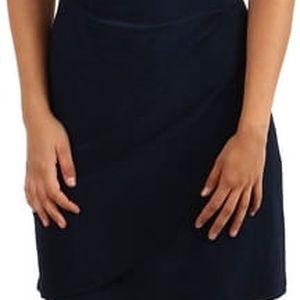 Dámské šaty se zavinovacím efektem pro plnoštíhlé tmavě modrá