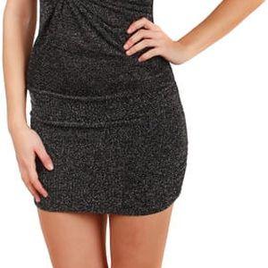Dámské společenské šaty třpytivé - party šaty stříbrná