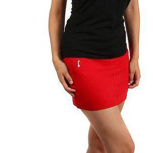 Sportovní sukně s ozdobnými zipy červená