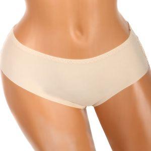 Bezešvé kalhotky s krajkou na zadním dílu tělová