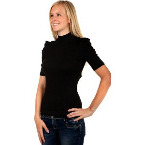 Elegantní tričko s rolákem černá
