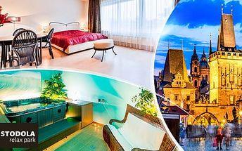Romantická Praha**** na 3-5 dní pro dva se snídaněmi, večeří, dezertem + privátní wellness